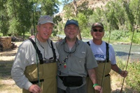 Brian S. Parsley. M.D, Flyfishing With Friends, Bellaire